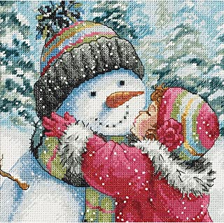 Dimensions 418339 Needlecrafts Counted Cross Stitch, A Kiss for Snowman