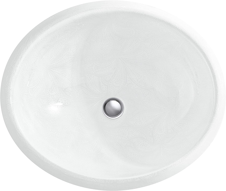 Buy Kohler Sartorial Paisley On Caxton Under Mount Bathroom Sink 14218 Fp1 0 White Online In Indonesia B01b178ch8