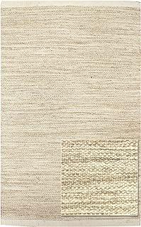 Landry & Arcari Striae Collection J42915 Ivory Hand-loomed Dhurrie Area Rug 9 feet by 12 Feet (9x12)