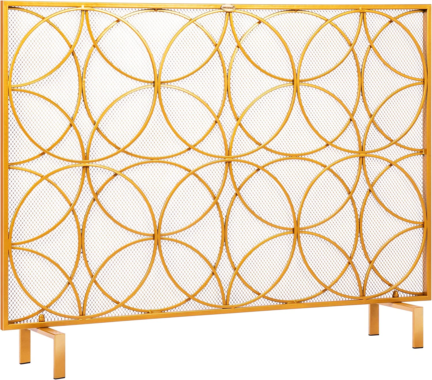 VIVOHOME 40.9 x 31.1 Inch Single Sc Iron Wrought Special sale item Fireplace Panel Max 41% OFF