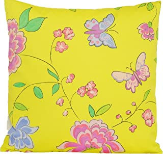 Butterflies And Flowers Decor Pillow Case Designers Guild Yellow Cushion Cover Fabric Imari Square