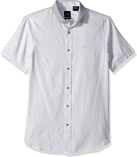 A|X Armani Exchange Men's Pinstripe Button Down