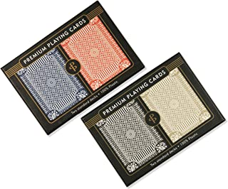 Peter Pauper Press 100% Plastic Playing Cards Value Pack (4 Decks)