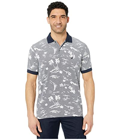 Nautica Pattern Polo (Blue) Men