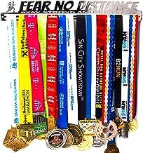 Medal Display + Fear No Distance + Medal Display Rack 30+ Medals Marathon, Running, Race, Sports Medals