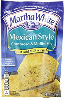 Martha White Cornbread and Muffin Baking Mix, Mexican Style, 6 Ounce Packages (Pack of 12)