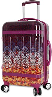 J World New York Taqoo Polycarbonate Carry on Art Luggage, Dusk (Purple) - JLH-2600A