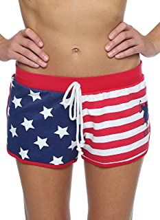 Womens Elastic Waistband Pajama Sleep-Lounge Shorts