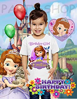 Sofia the First Shirt, Sofia the First Princess Birthday Party, Add Any Name and Age, Family Matching Shirts, Girls Birthday Shirt, Personalized Sofia the First Shirt Family