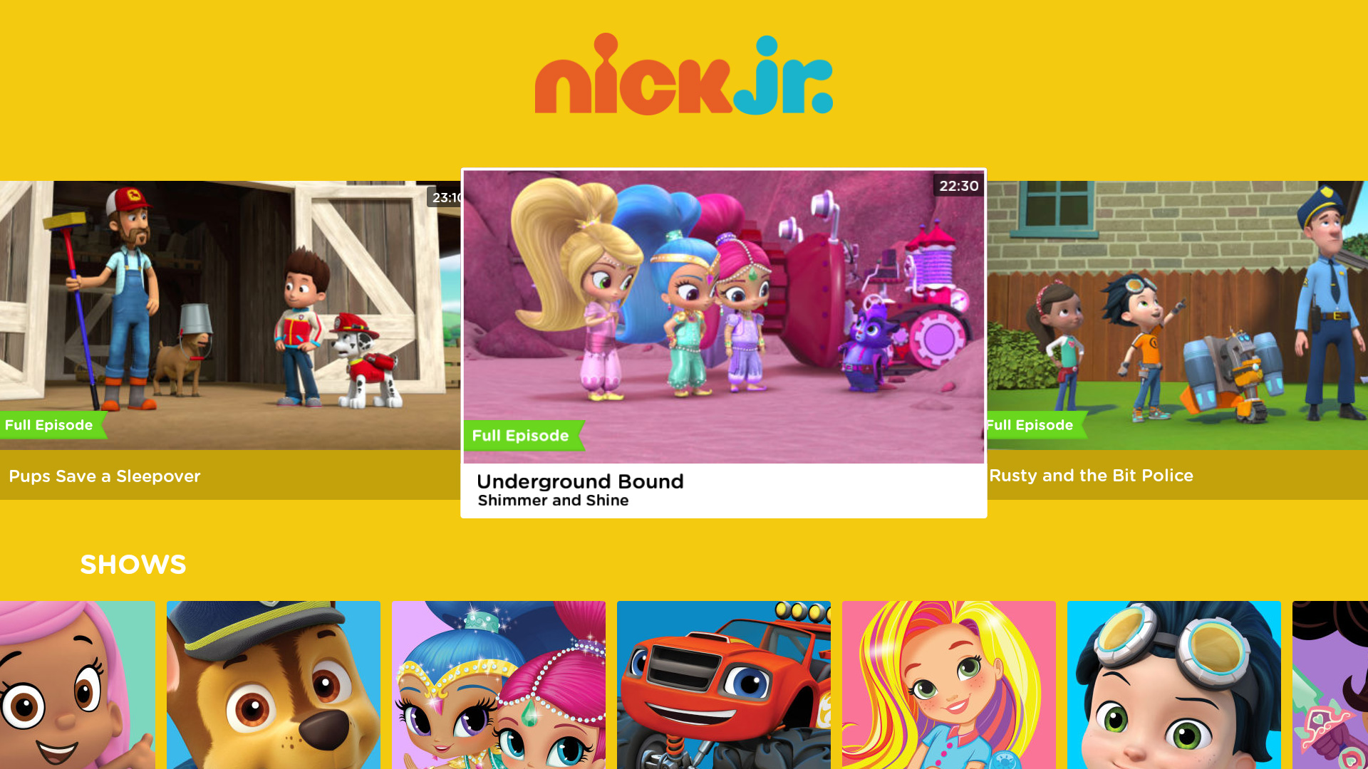 Nick Jr. for Fire TV