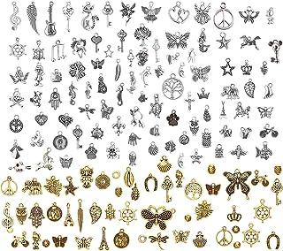 LABOTA 150 pcs Antique Mélangé Charms Pendentifs pour la décoration de mariage faveur, collier pendentifs, fabrication de ...