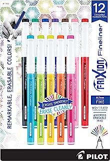 PILOT FriXion Fineliner Erasable Marker Pens, Fine Point, Green Ink, 12-Pack (11470)