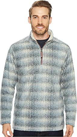 True Grit - Melange Blanket Plaid 1/4 Zip Pullover