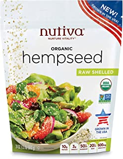 Nutiva Organic Raw US Grown Shelled Hempseed, 24-ounce