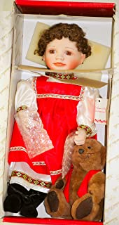 1990 - Ashton-Drake Galleries - Edwin M. Knowles China Co - International Festival of Toys & Tots - Natasha : Little Russian Girl - Bisque Porcelain Doll - COA - Created by Kathy Barry-Hippensteel - Out of Production - New - Collectible