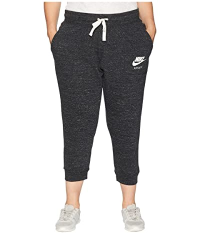 Nike Plus Size Gym Vintage Extended Capris (Black/Sail) Women