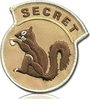 Desert Sand Camo Special Ops Military Morale Agent Spy Secretive Secret Squirrel Acorn Nut Bold All Cap Caps Capitol Font Hook & Loop Fastener Patch [3
