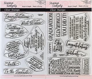 graduation rubber stamps