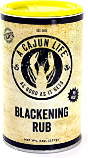 A Cajun Life Blackening Seasoning | Authentic Certified Cajun Blackening Rub, Non-GMO, No MSG, Gluten Free Cajun Blackened Seasoning That's Great On Everything.