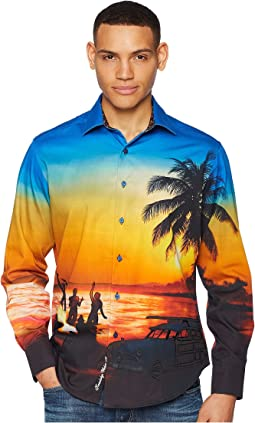 Sunset Chaser Long Sleeve Woven Shirt