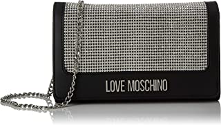 Love Moschino Jc4055pp1a Women's Top-Handle Bag, Silver (Argento Nero), 6x13x23 centimeters (W x H x L)