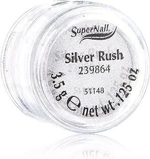 Supernail Glitter, Silver Rush, 0.125 Ounce
