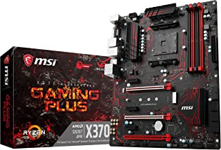 MSI X370 Gaming Plus - Placa Base Performance (AMD AM4 Chipset X370, DDR4 Boost, Steel Armor, Gaming LAN, Audio Boost, VR Ready, Military Class V)