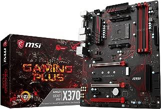 MSI Gaming AMD Ryzen X370 DDR4 VR Ready HDMI USB 3 SLI CFX ATX Motherboard (X370 Gaming Plus)
