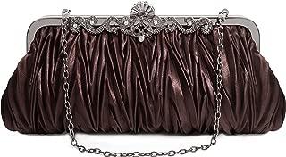Best chocolate brown satin clutch bag Reviews