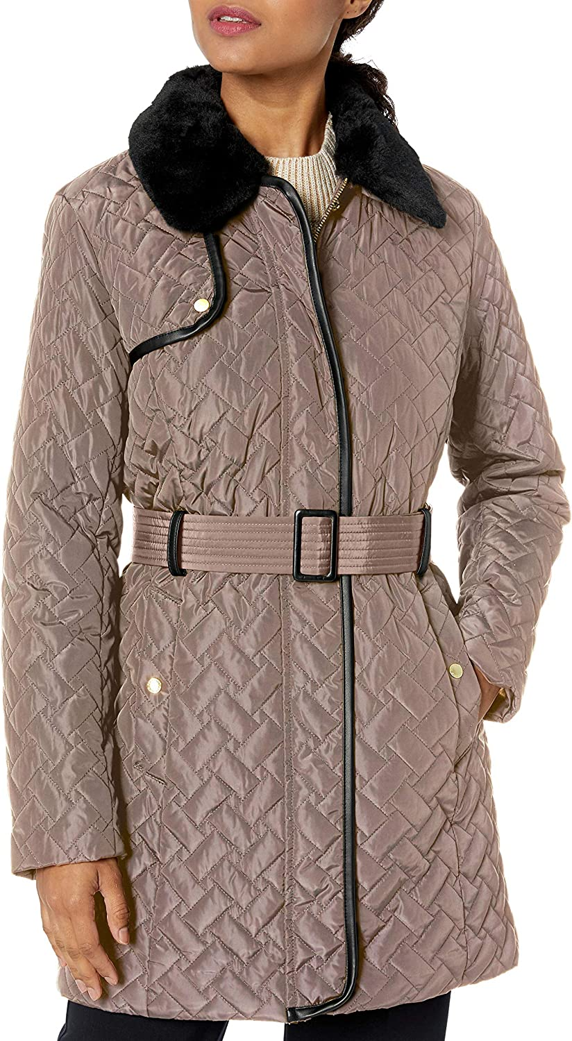 Cole Haan Women's Coat Max 73% OFF mart Trench Quilted