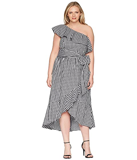 8346e85a47be Adrianna Papell Plus Size Gingham One Shoulder High-Low at 6pm