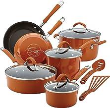 Rachael Ray 16328 Cucina Cookware Set, 12-Piece, Pumpkin Orange