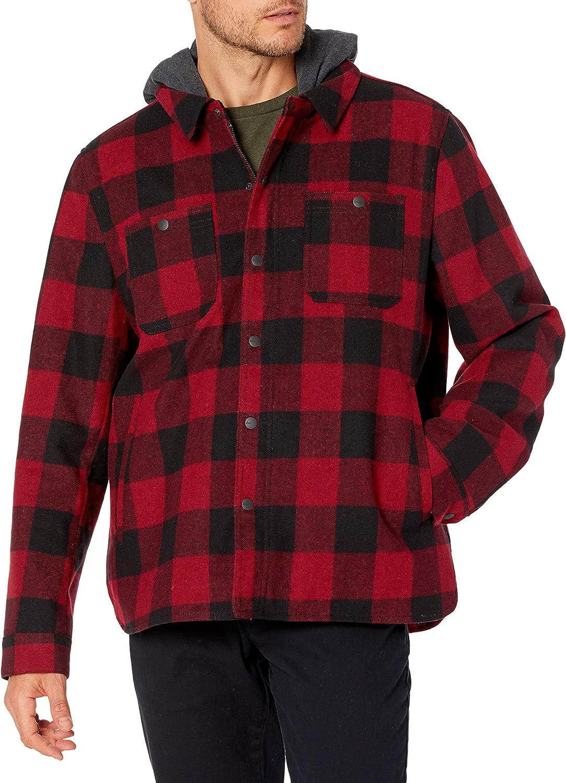 G.H. Bass & Co. Men's Wool Blend Plaid Work wear Jacket, Large