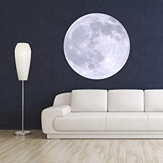 Moon Wall Decal Room Decor - Bedroom Wall Stickers - Moon Removable Wallpaper - Moon Wall Mural Vinyl Art Décor Sticker (24
