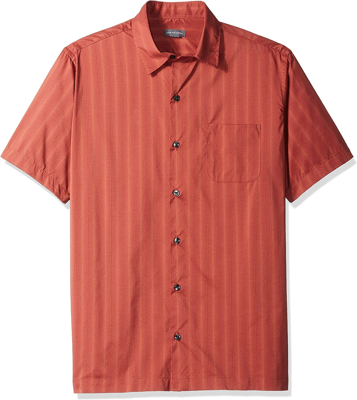 Van Heusen Men's Big and Tall Short Sleeve Button Down Stripe Shirt
