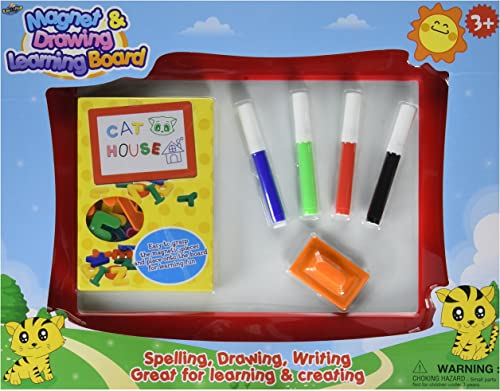 para mayoristas Magnet Magnet Magnet and Drawing Learning Board - Includes 1 Drawing Board, 4 Markers, 1 Eraser and 1 Set Of Alphebet Magnets by Number 1 in Gadgets  punto de venta