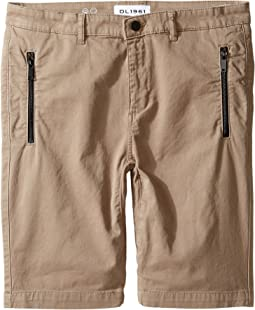 DL1961 Kids - Finn Chino Jogger Shorts in Hutch (Big Kids)