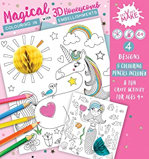 Express Yourself MIP Magical Get Set Make Colouring In Set With Honeycombs Kids Craft Kit For Kids - Creative Colouring Se...