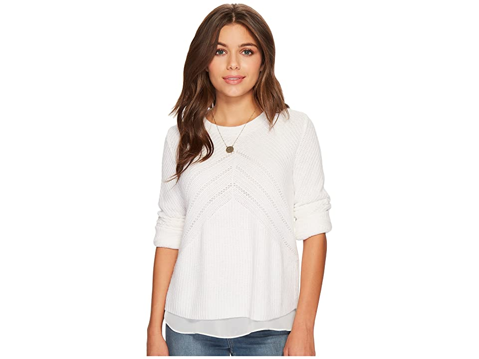 Lucky Brand Nico Sweater (Pure White) Women