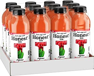 Honest Tea Organic Fair Trade Raspberry Tea Gluten Free, 16.9 Fl. Oz, 12 Pack