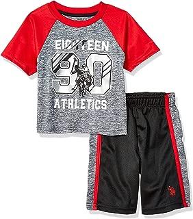 Boys' 2 Piece Sleeve Athletic T-Shirt and Short Set