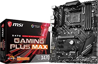 MSI X470 GAMING PLUS MAX - Placa base Performance Gaming (4 PCI-E Gen3 , Audio boost, conectores pin 8+4, Mystic Light RGB)
