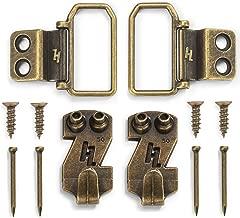 HangZ 11050 Flat Mount 2-Hole D-Ring Picture Hanger Kit, 50lb