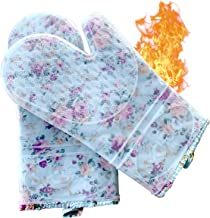ByChefCD Professional Silicone Oven Mitts/Heat Resistant Gloves Non-Slip Professional Cooking Gloves, Kitchen Potholders a...