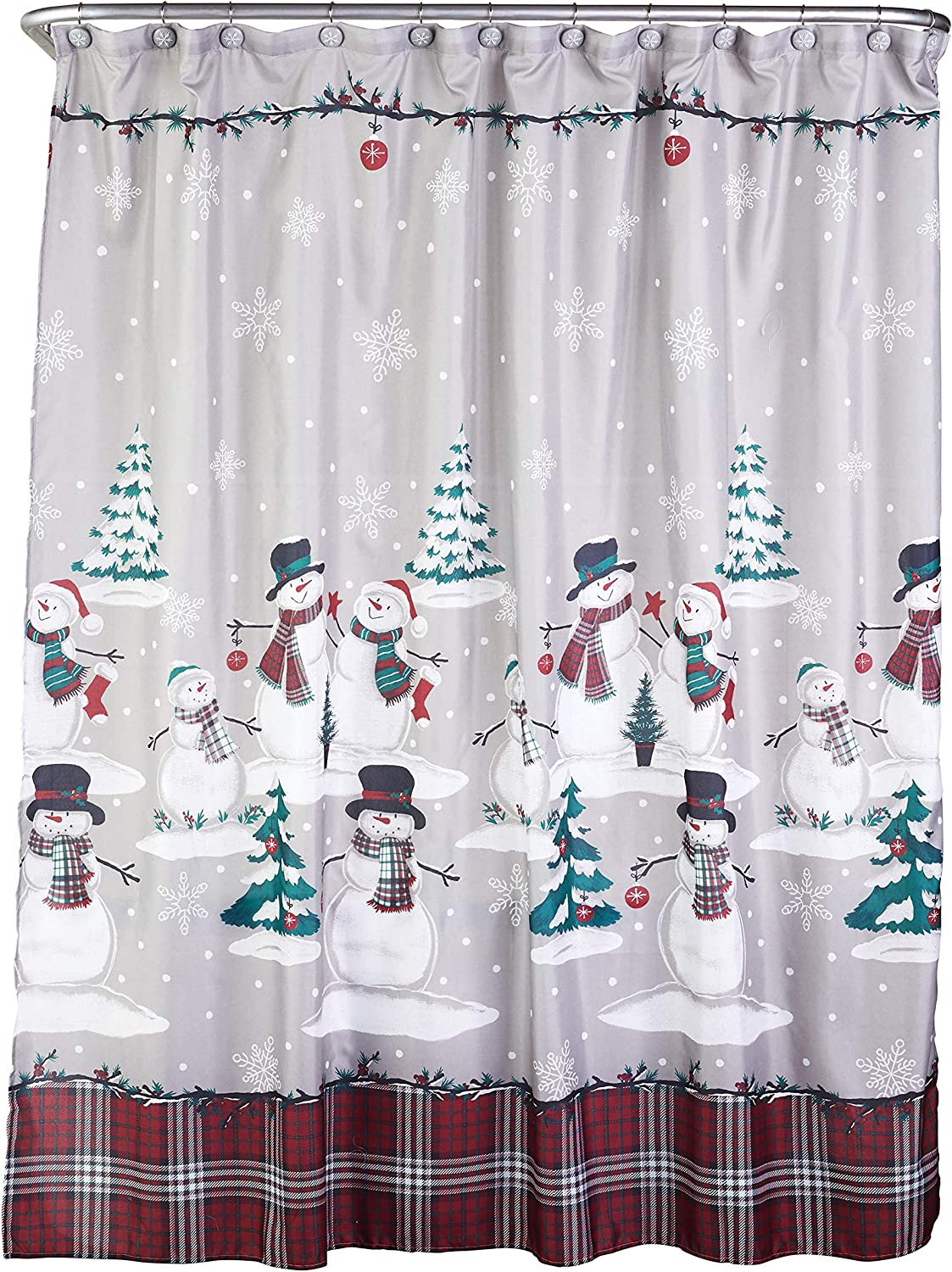 SKL OFFicial mail order HOME by Saturday Credence Knight Ltd. Curtain Snowman an Shower Plaid