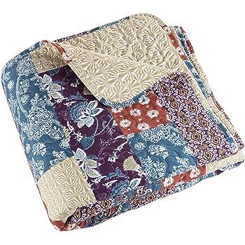 Full//Queen 66-10001-FQ Lavish Home Melanie Printed 3-Piece Quilt Set