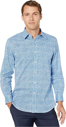 Organic Fern Flower Print CVC Dress Shirt