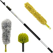 DocaPole Dusting Kit with 5 to 12 ft Telescopic Pole and 3 Dusting Attachments