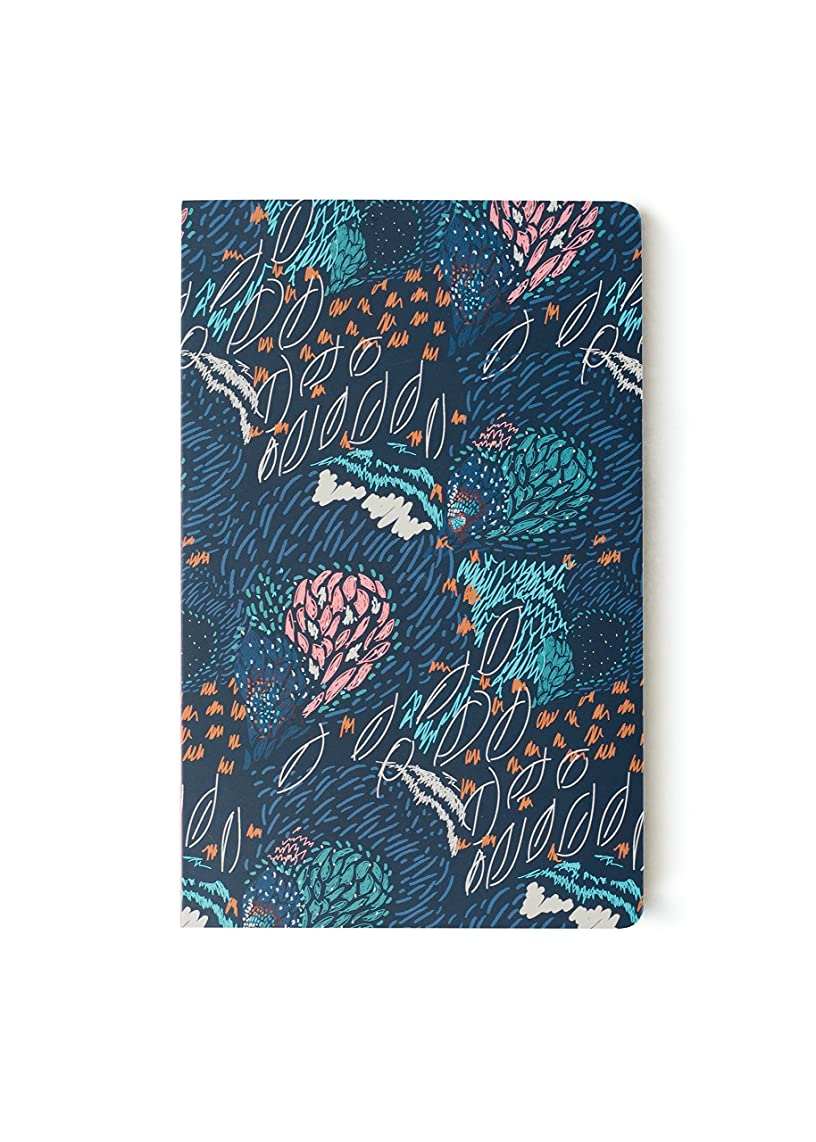 Denik, Softcover Layflat Notebook, Midnight Meadow, 144 Pages, 5.25 x 8.25 inches - Lined