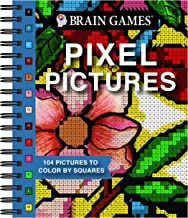 Brain Games – Pixel Pictures: 104 Pictures to Color by Squares PDF
